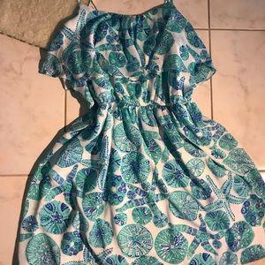 Lily Pulitzer Spaghetti Strap Coastal Print Dress